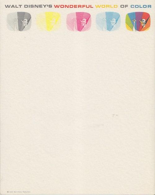 Walt Disney Letterhead 1961