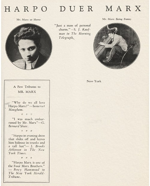 Harpo Marx Letterhead, c.1930